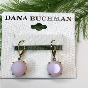NWT! Dana Buchman jewelry pink/gold earrings